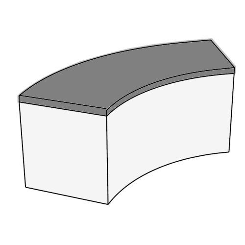 Sitzkissen für SNAKE Sitzbank, soft anthrazit