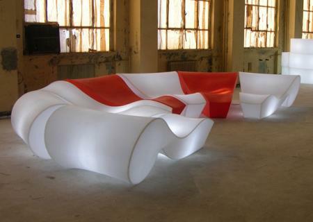 rococo relaxliege beleuchtet slide design von. Black Bedroom Furniture Sets. Home Design Ideas