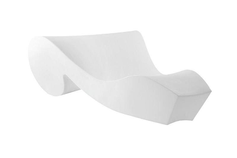 ROCOCO Relaxliege beleuchtet weiß