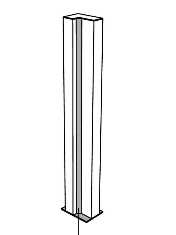 BRICK Leuchtsäule in L-Form, Rückseite