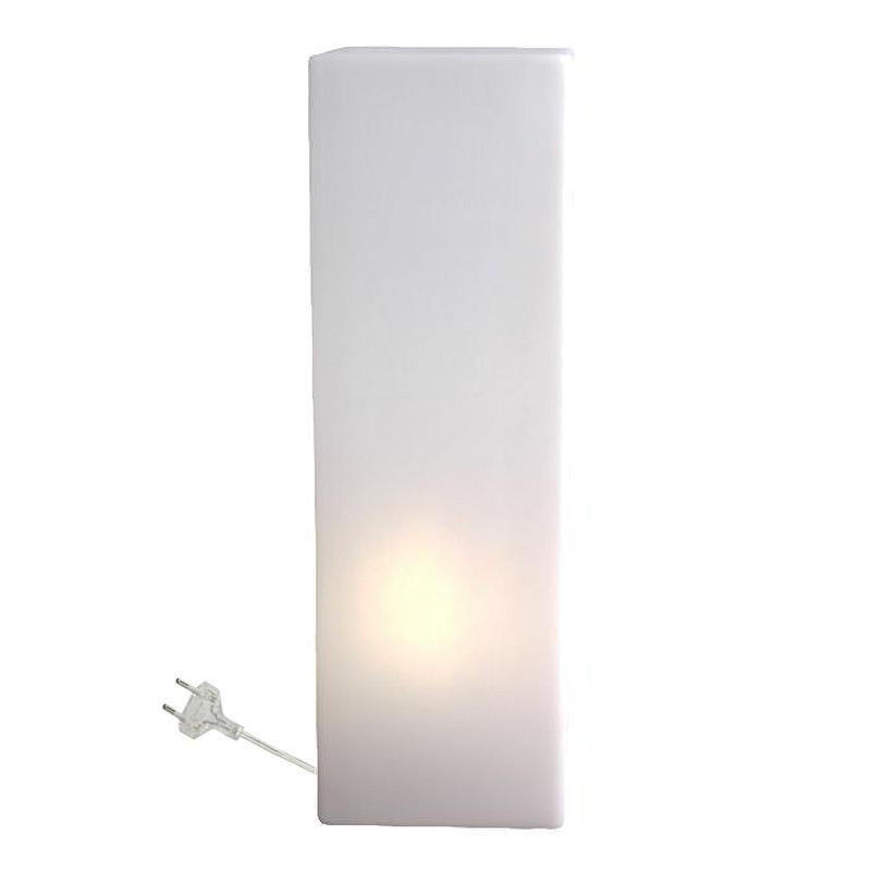 IO Leuchtsäule eckig, 60 cm, Indoor, weiß