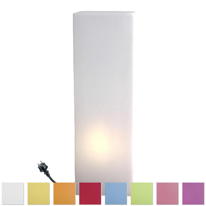 IO Leuchtsäule eckig, 60 cm, Outdoor, farbig nach Wahl