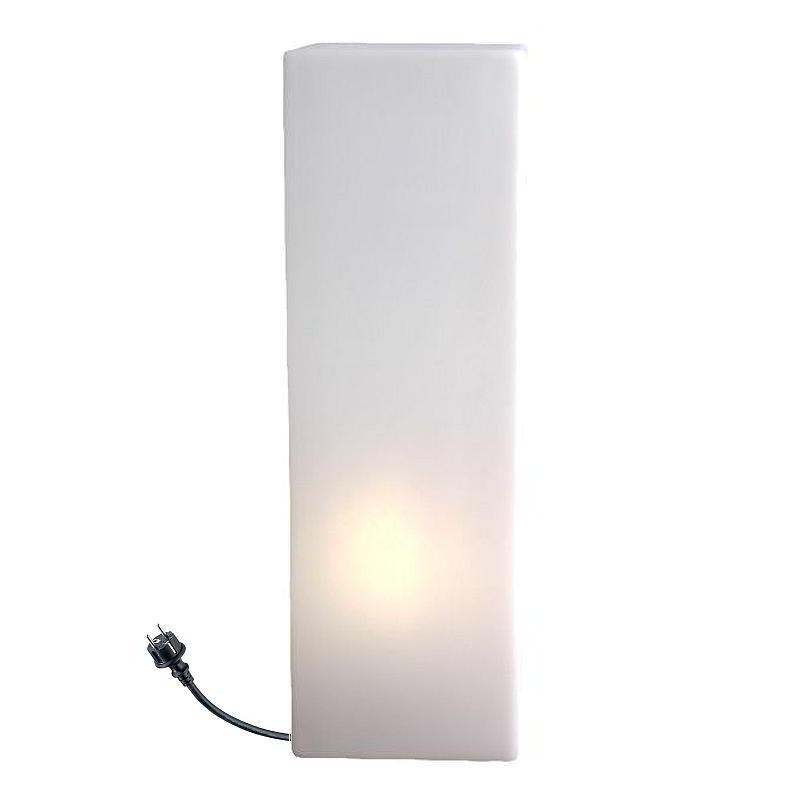 IO Leuchtsäule eckig, 60 cm, Outdoor, weiß