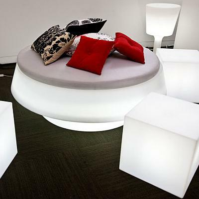 GIO POUF / GIO BED Sitzelement beleuchtet