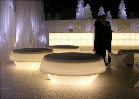 GIO POUF Bank / Tisch mit Beleuchtung