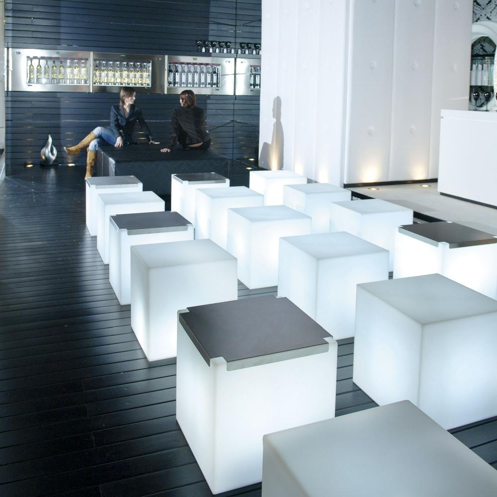 kubo leuchtwürfel, leuchttisch mit tablett von homeform