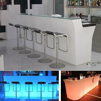 JUMBO Bar beleuchtet