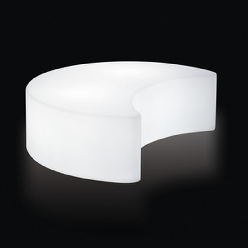 MOON Indoor beleuchtetes Sitzelement weiß