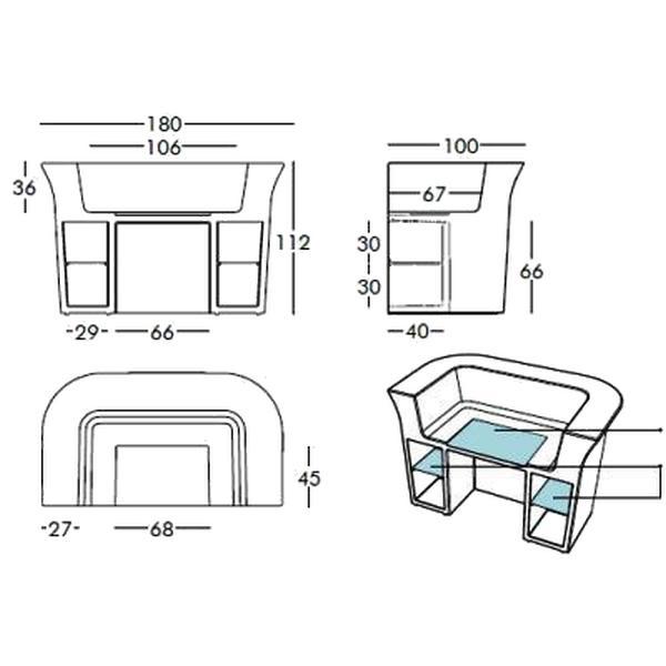 MY DESK beleuchtete Theke von slidedesign von homeform.de
