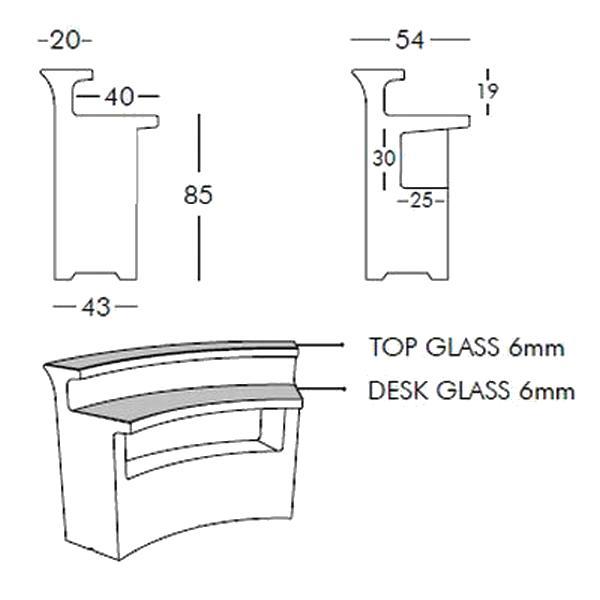 BREAK BAR beleuchtet von slidedesign, technische Daten