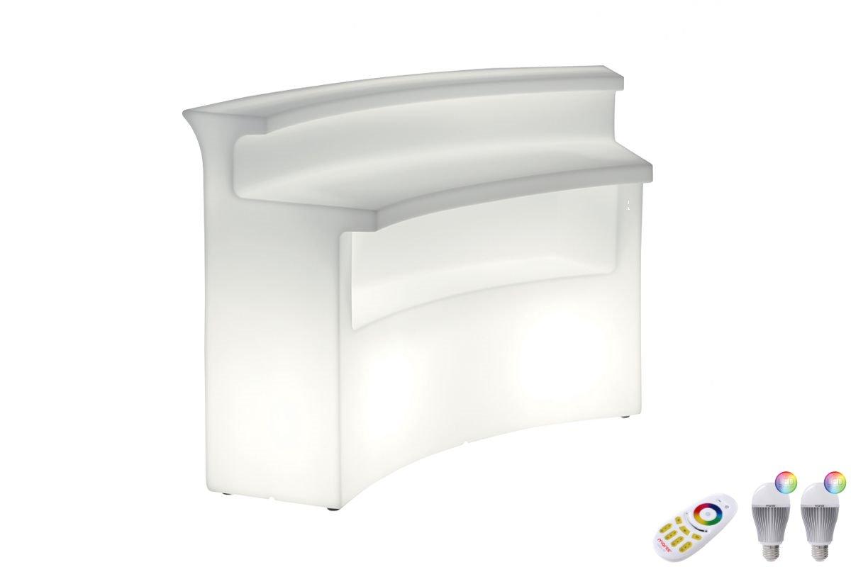 BREAK BAR mit LED-Leuchtmittel und Funk-Fernbedienung
