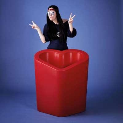 Mon Amour Vase rot hochglanzlackiert
