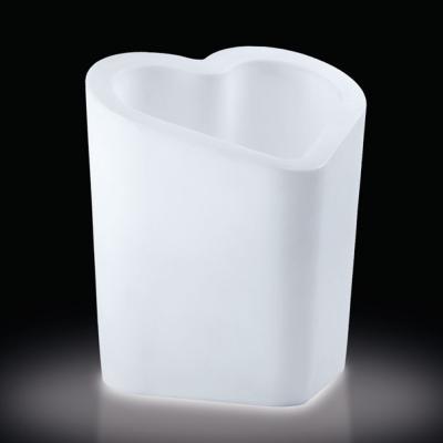 MON AMOUR Vase mit Beleuchtung, Outdoor, weiß