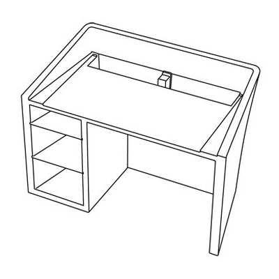 Kanal Schreibtisch technische Zeichnung