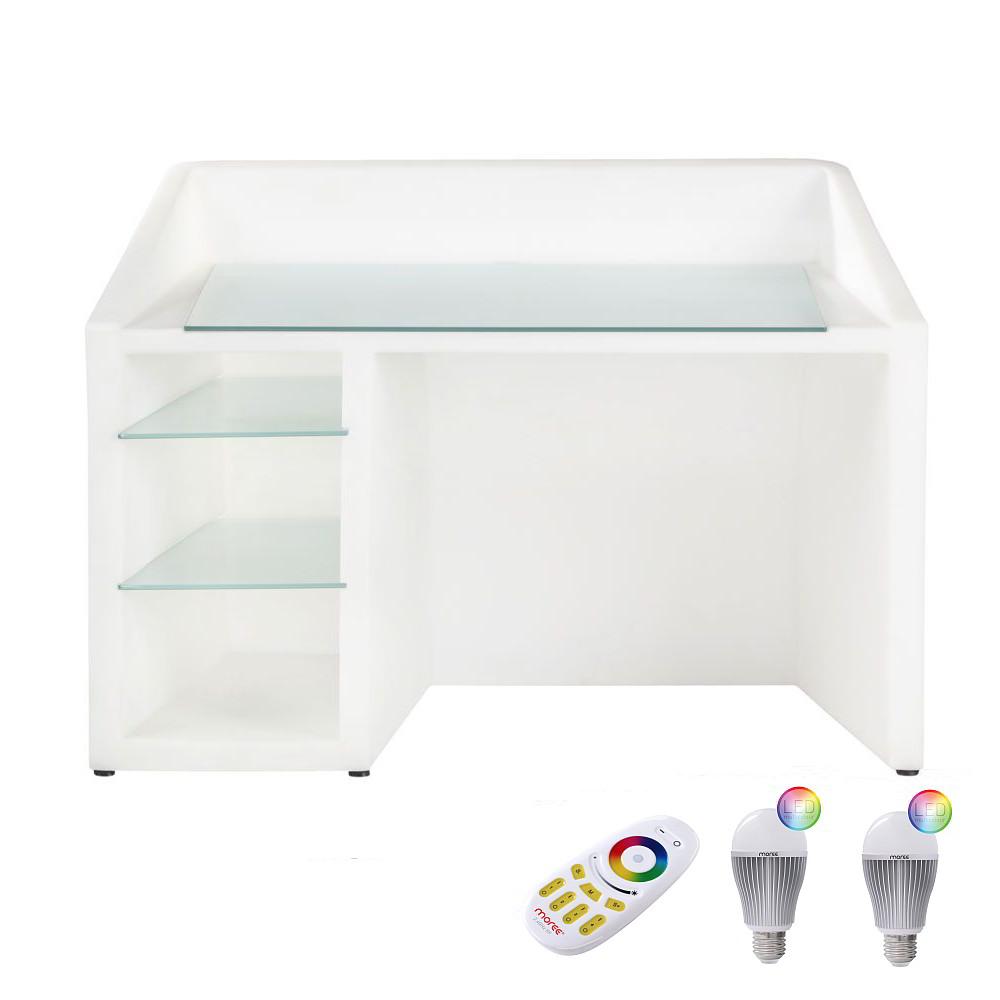 KANAL Schreibtisch mit LED-Birnen Beleuchtung, Funk-Fernbedienung