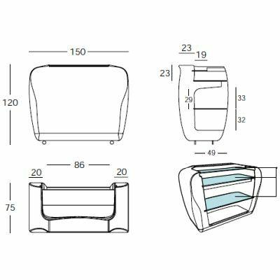roller bar beleuchtet von slide design bei. Black Bedroom Furniture Sets. Home Design Ideas