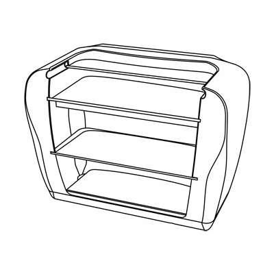 ROLLER BAR beleuchtete Theke, Technische Zeichnung