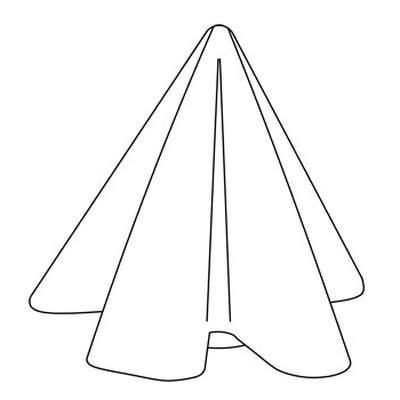 MANTEAU Tischleuchte / Bodenleuchte Technische Zeichnung