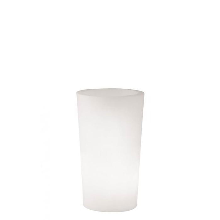 X-POT Light beleuchteter Blumentopf Outdoor, Höhe 83 cm, weiß
