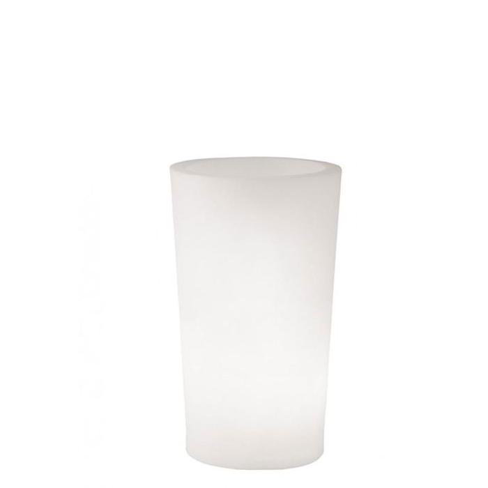 X-POT Light beleuchteter Blumentopf Outdoor, Höhe 98 cm, weiß