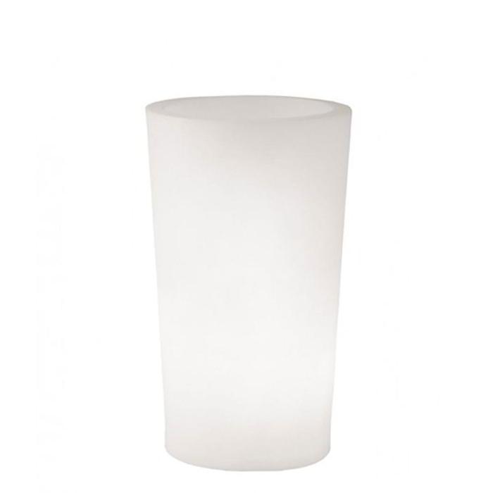 X-POT Light beleuchteter Blumentopf Outdoor, Höhe 107 cm, weiß