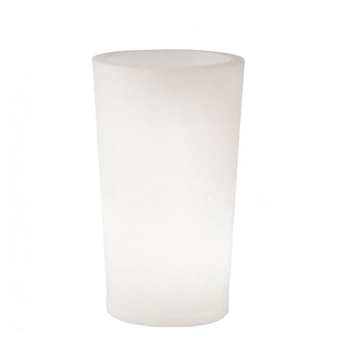X-POT Light beleuchteter Blumentopf Outdoor, Höhe 120 cm, weiß