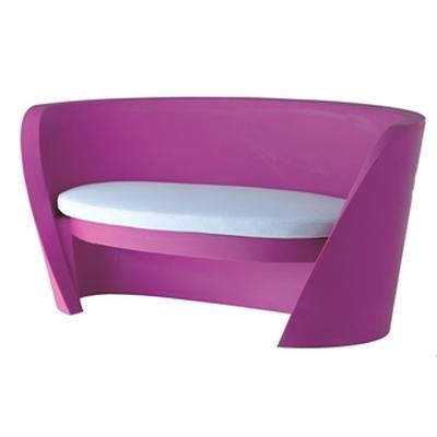 RAP Sitzbank / Sofa fuchsia mit weißem Sitzkissen