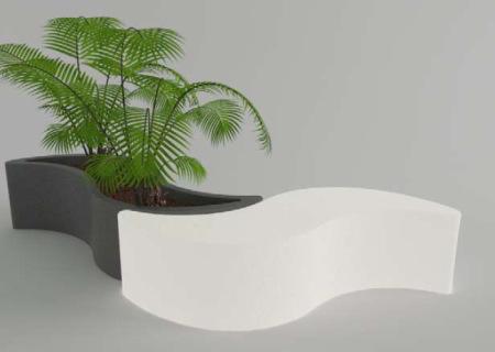WAVE Pflanzkübel beleuchtet von slidedesign von homeform