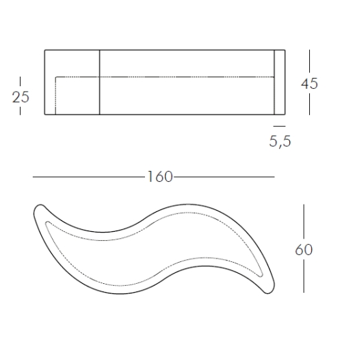 Maße WAVE Pflanzkübel