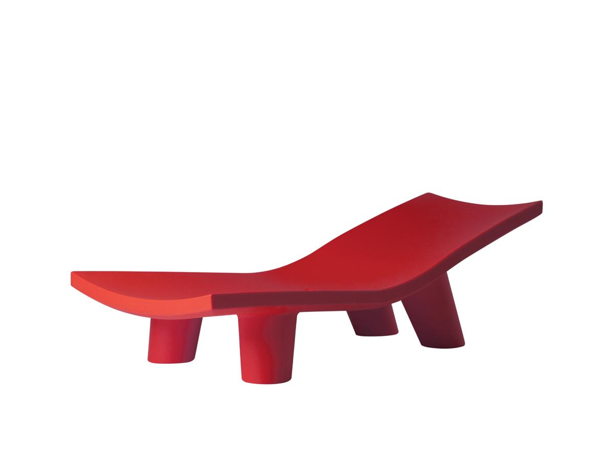 LOW LITA Lounge Gartenliege flame red