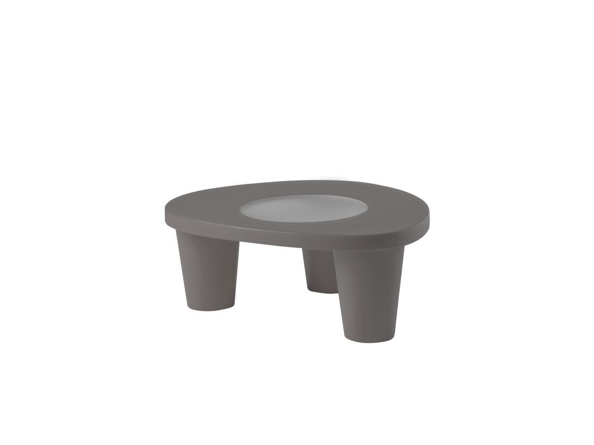 LOW LITA Gartentisch, mit Glasplatte, argil grey