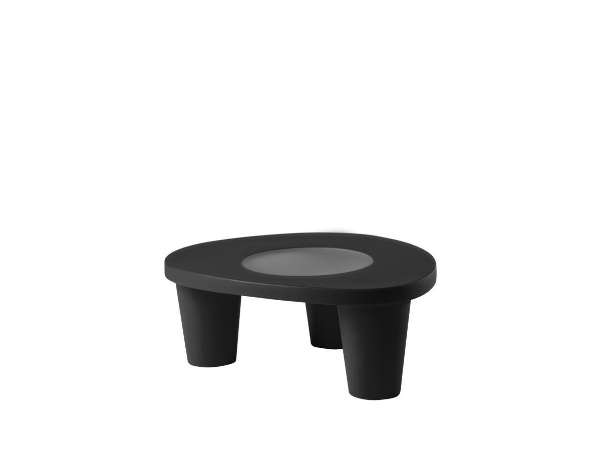LOW LITA Gartentisch, mit Glasplatte, jet black