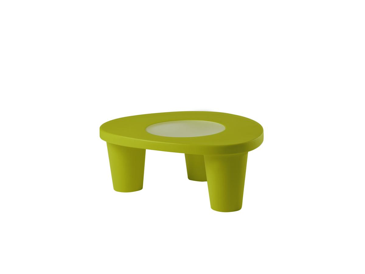 LOW LITA Gartentisch, mit Glasplatte, lime green