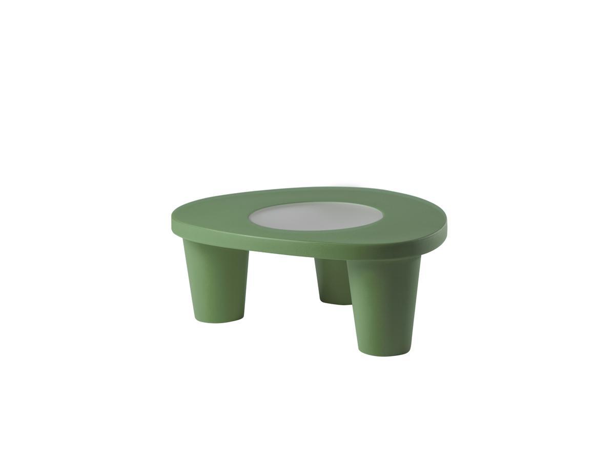 LOW LITA Gartentisch, mit Glasplatte, malva green