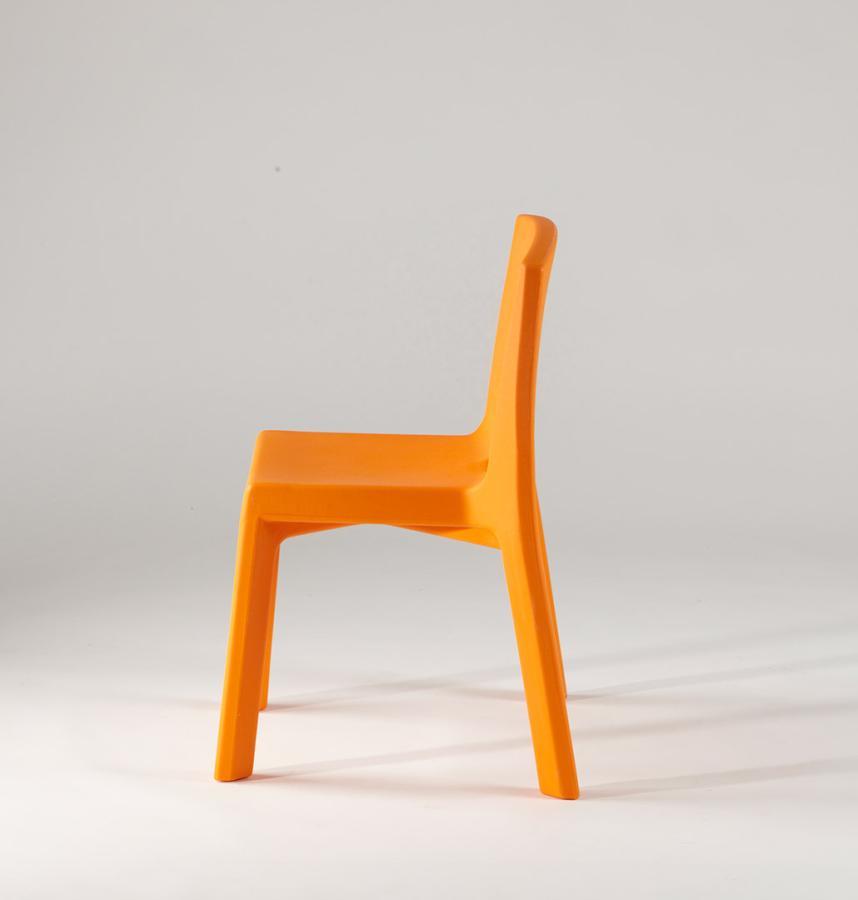 Q4 Stuhl orange, Seitenansicht