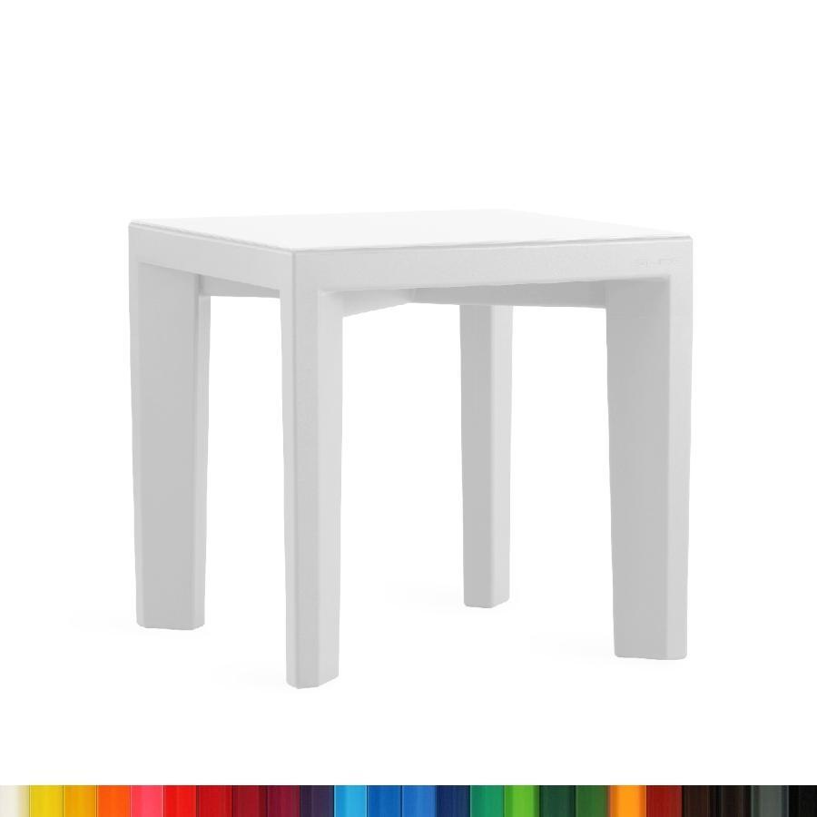 GINO Tisch quadratisch mit satinierter Glasplatte