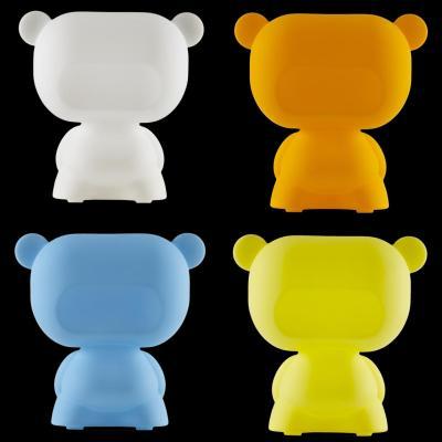 PURE Leuchtteddybär, weiß, orange, blau, gelb
