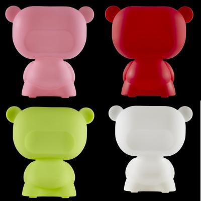 PURE Leuchtteddybär, rosa, rot, grün, weiß