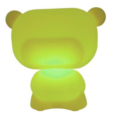 PURE beleuchteter Teddybär grün