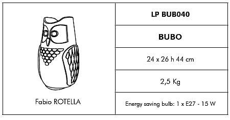 Bubo Leuchtuhu - technische Daten