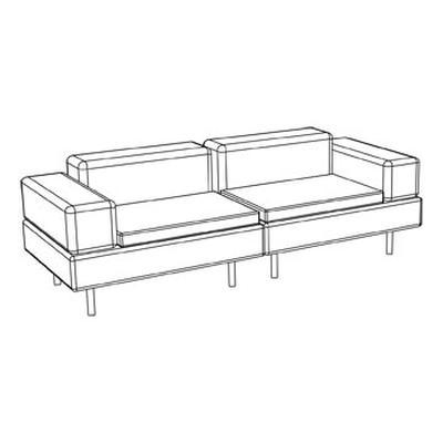 HAPPY LIFE Sofa technische Skizze