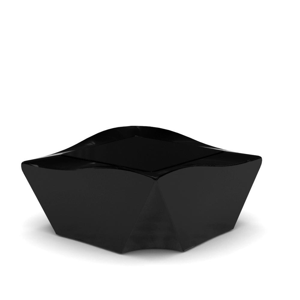 KAMI NI Gartentisch Hochglanz schwarz