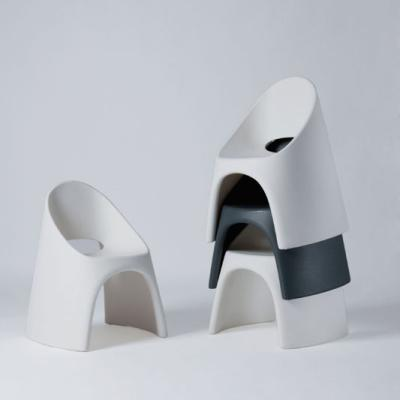 AMELIE Stuhl weiß und anthrazit, stapelbar