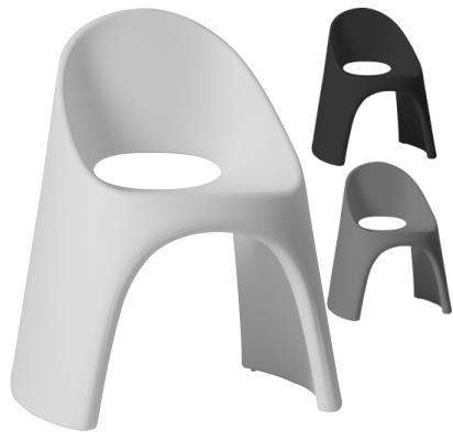 AMELIE Stuhl in weiß, grau und anthrazit