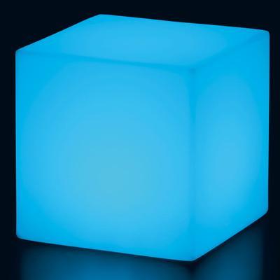 CUBO Leuchtwürfel mit Akku / LED blau leuchtend