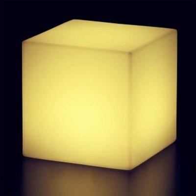 CUBO Leuchtwürfel mit Akku / LED gelb leuchtend