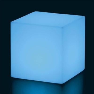 CUBO Leuchtwürfel mit Akku / LED hellblau leuchtend