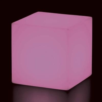 CUBO Leuchtwürfel mit Akku / LED pink leuchtend