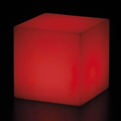 CUBO Leuchtwürfel mit Akku / LED rot leuchtend