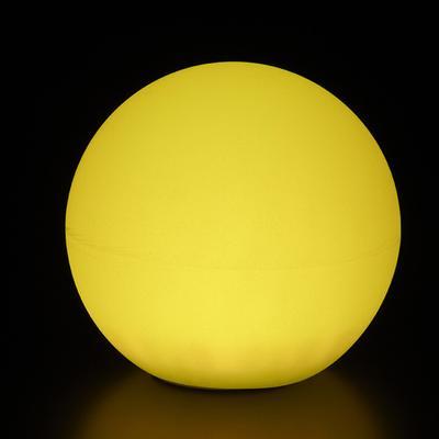 GLOBO Leuchtkugel mit Akku / LED, gelb leuchtend